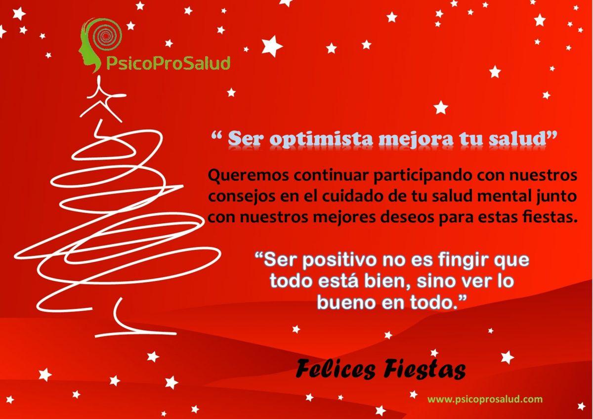 Ser optimista mejora tu salud – Felices Fiestas
